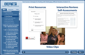 Video based online course example